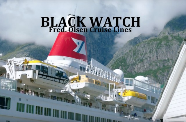 The Black Watch, a Fred Olsen cruise ship that can go through the Panama Canal
