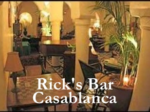 Casablanca, Morocco's Cultural centre has a Rick's Bar.