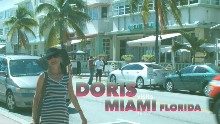 Miami Guide, Bus Tour, Ocean Drive & Beach all on Jean's film for Doris Visits