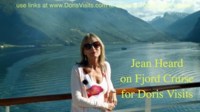 Cruise Route – Norwegian Fjords, huge ship sailing between mountains
