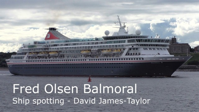 Balmoral, Fred Olsen ship sails gracefully out of the Tyne