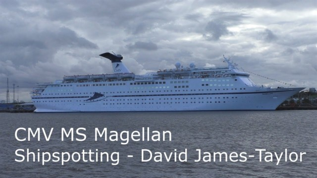 Magellan sailing out of Port of Tyne, graceful ship