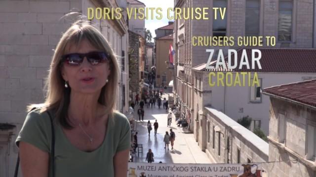 Zadar, Croatia. Jean visits from cruise ship Aurora for Doris Visits