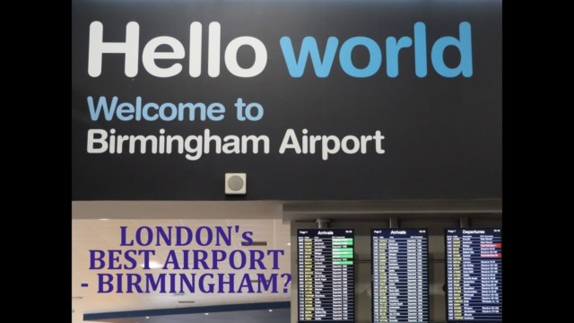 Is Birmingham is London's best Airport – Fly-cruise is the future.