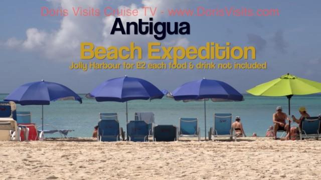 Antigua Jolly Harbour Beach – top marks, $2 on the public bus !