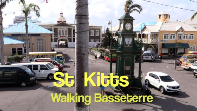 St Kitts. Walking tour of Basseterre – Jean walks the town