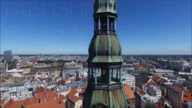 Riga, Latvia drone film – a port destination on many Baltic Cruises and even more hen nights
