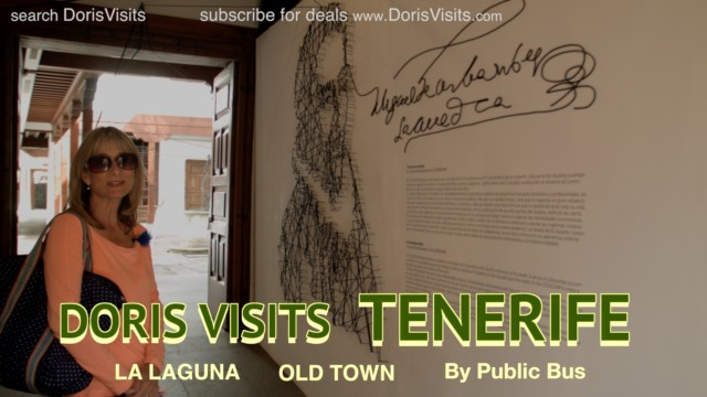 Tenerife, the old town of Laguna and Don Quixote Museum. Jean films for Doris Visits