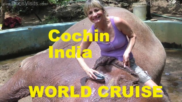 Cochin, Kerala, India – the place of the Real Marigold Hotel on a world cruise stop