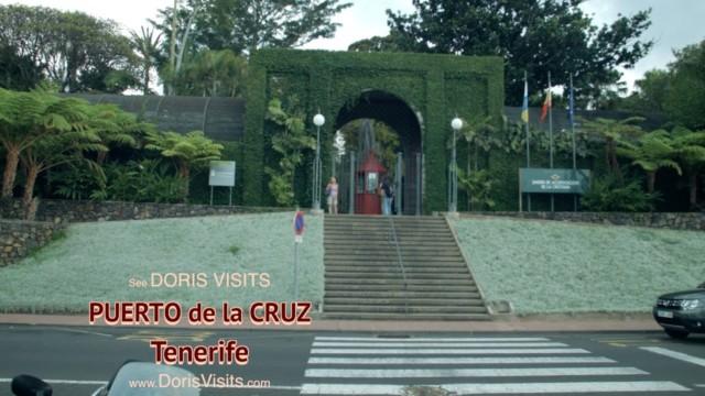 TENERIFE, PUERTO de la CRUZ – Jean gets there by public bus for Doris Visits