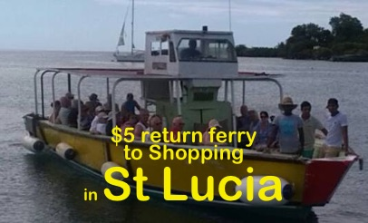 St. Lucia, shopping, karaoke and duty free by ferry by Marcia