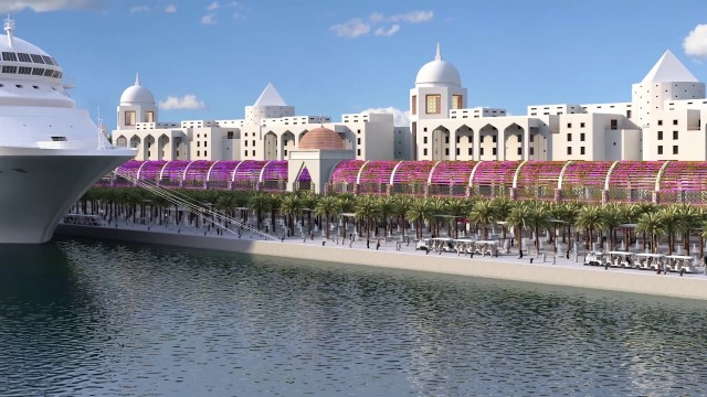 EXCITING NEW CRUISE PORTS – FALCON OF DOHA, the concept port for QATAR