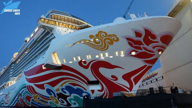 Norwegian JOY  –   Asia  a ship based in Asia that can take 3,883 passengers