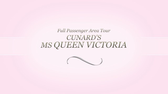 Queen Victoria. All passenger area video tour.