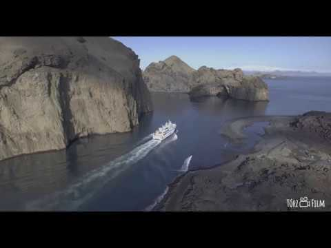 HEIMAEY, Iceland – overview from the air by DRONE