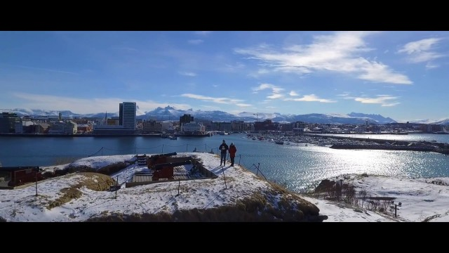 BODO, Norway. Drone film of the city. Great film of all you will want to see