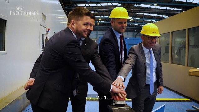 IONA steel Cutting ceremony video, they announce a second large ship to be built at Meyer Werft