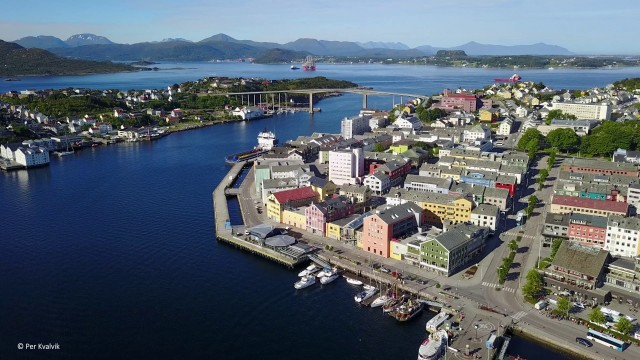 KRISTIANSUND, Norway – overview from the air by DRONE