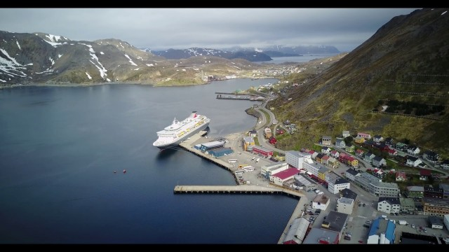 HONNINGSVAG, Norway – overview from the air by DRONE