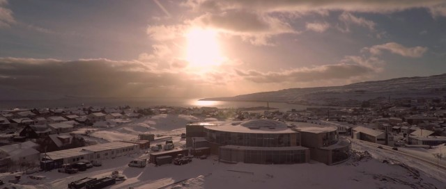 TORSHAVN, Faroe Islands – overview from the air by DRONE
