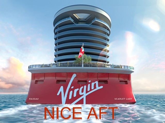 We look at the back of Virgin Voyages new ship and ask …