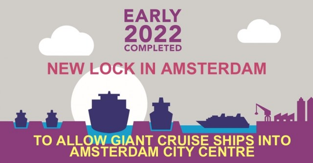 New lock will allow large cruise ships into Amsterdam, but new taxes send cruisers away.