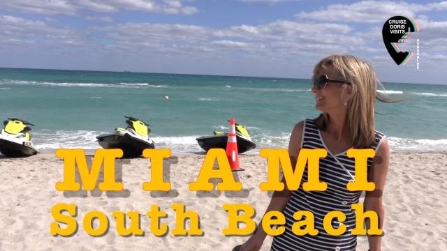 Miami, beach by bus