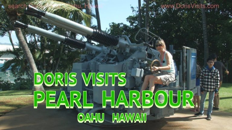 Oahu, Hawaii, Pearl Harbour visit from world cruise.