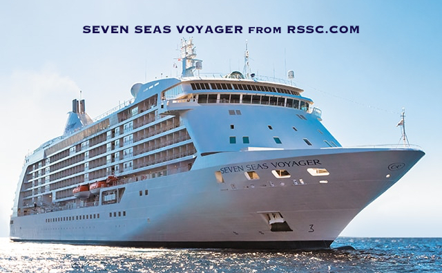 Seven Seas Voyager – luxury cruising, only suites which all have balconies.